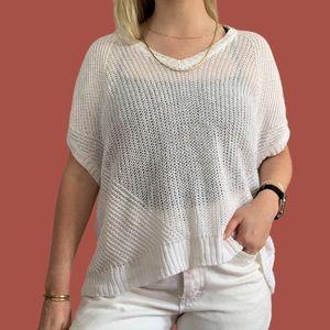 Polo Ralph Lauren Open Knit Short Sleeve Sweater